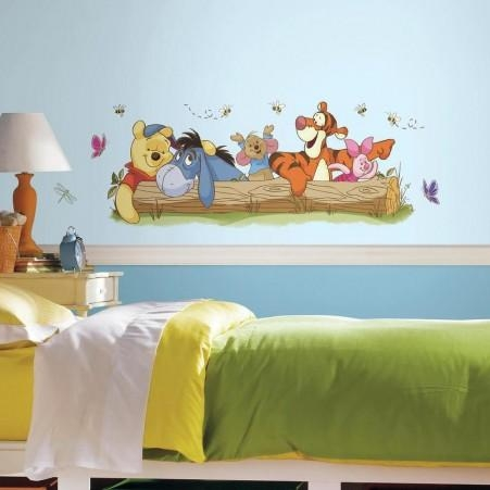Pooh And Friends Outdoor Fun Giant Wall Decals | Roommates For Winnie The Pooh Wall Decor (Image 8 of 20)