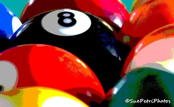 Pool Ball Photograph Billiards Room Wall Art 8X10 Or Any Throughout Billiard Wall Art (View 14 of 20)