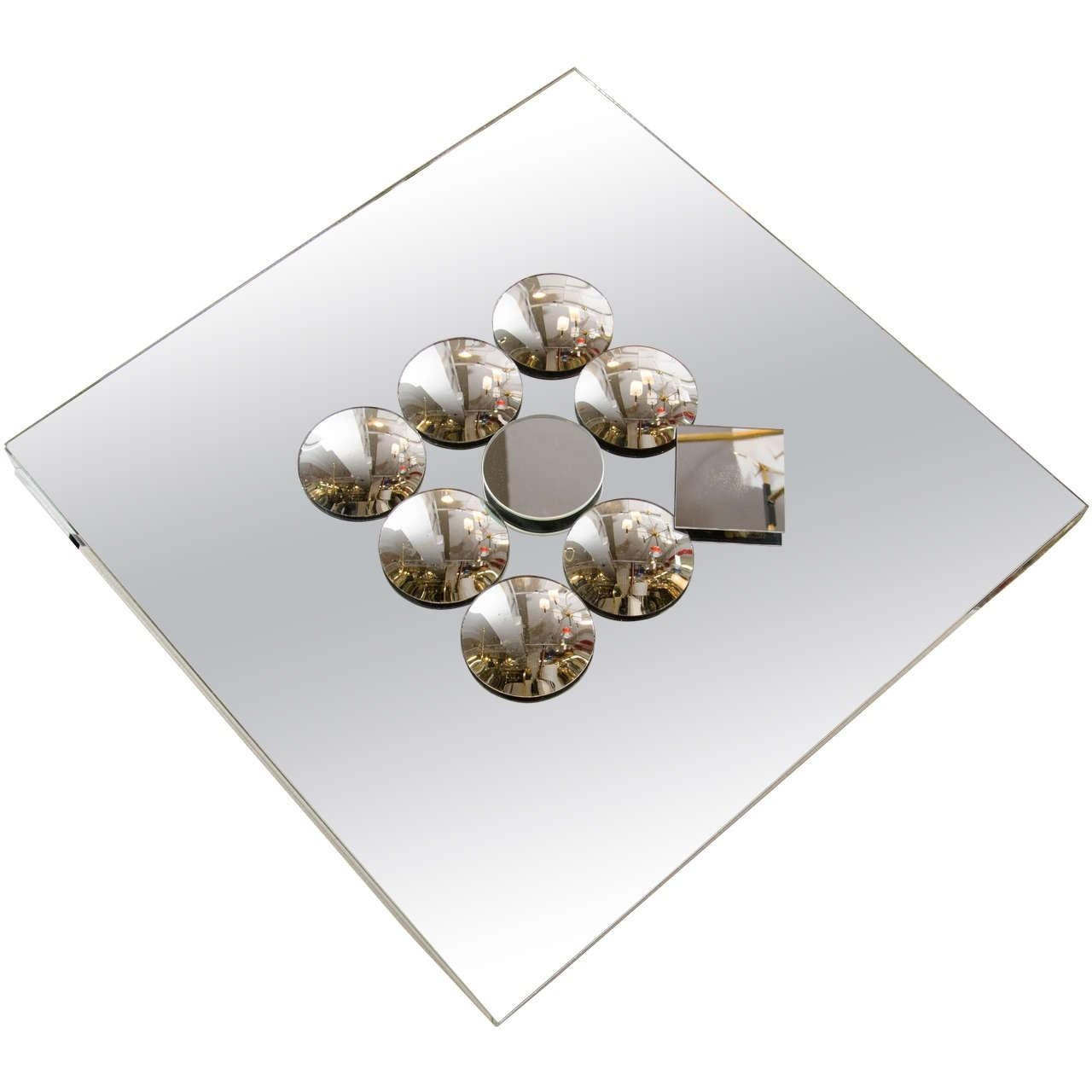 Pop Art Diamond Shaped Sculptural Wall Mirror With Small Convex Inside Small Diamond Shaped Mirrors (Image 12 of 20)