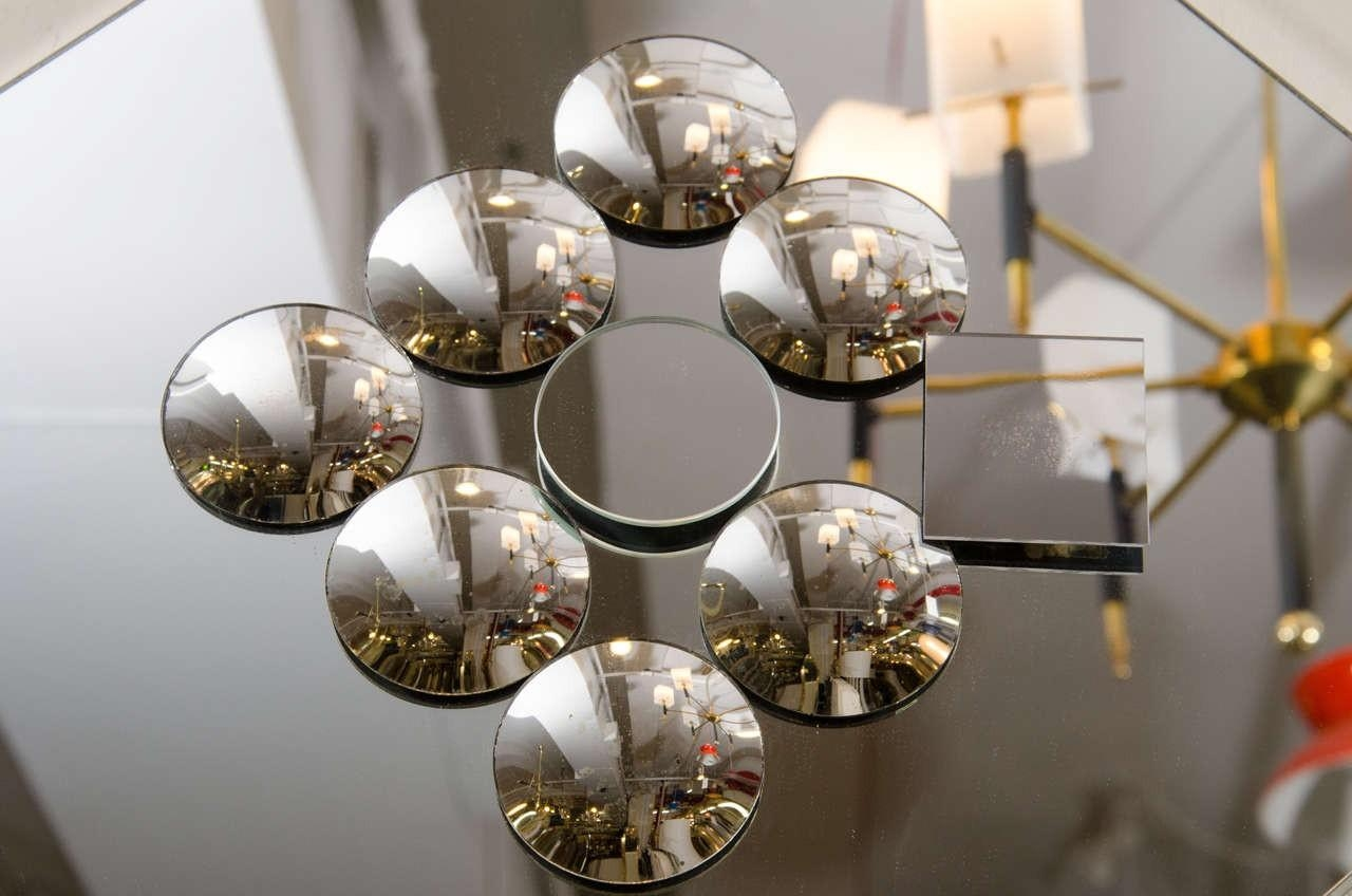 Pop Art Diamond Shaped Sculptural Wall Mirror With Small Convex Regarding Small Diamond Shaped Mirrors (Image 15 of 20)