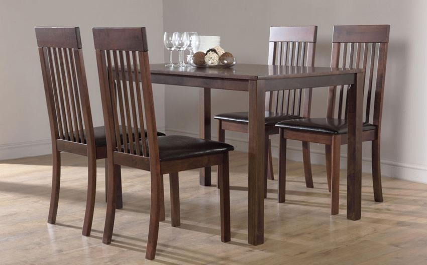 Popular Of Dark Wood Dining Tables And Chairs Dark Wood Dining Throughout 2017 Solid Dark Wood Dining Tables (Image 19 of 20)