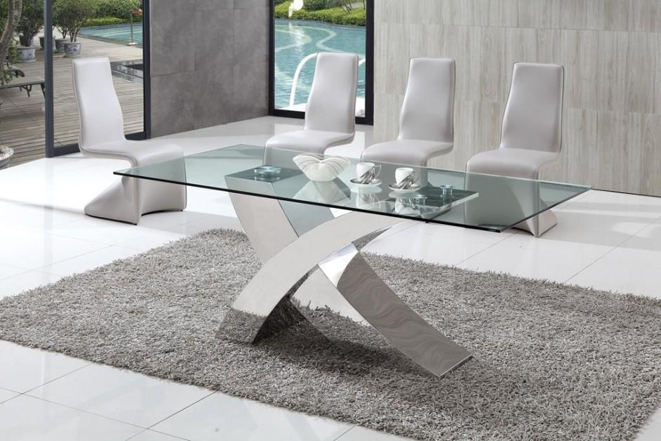 Popular Of White Glass Dining Table With Great White Glass Dining Inside Most Current Grey Glass Dining Tables (View 11 of 20)
