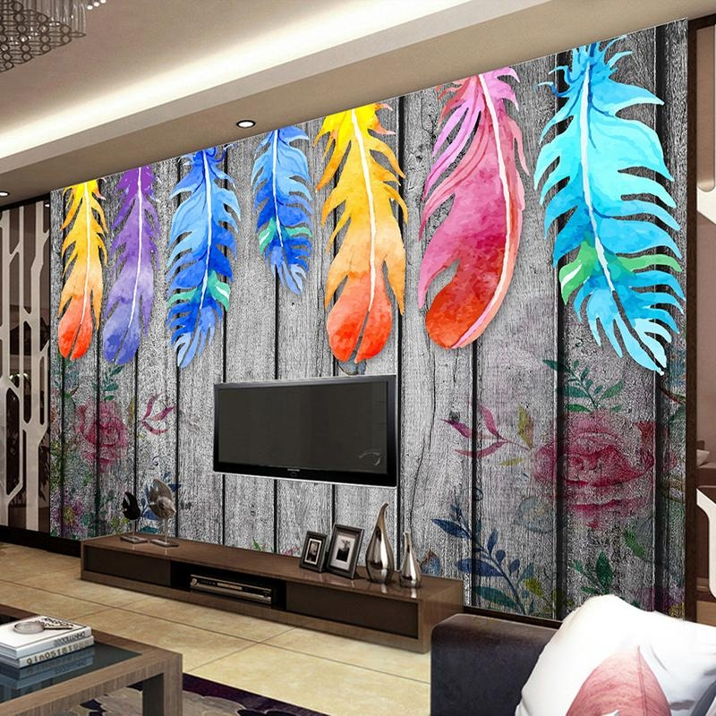 Popular Wall Mural Abstract Colorful Buy Cheap Wall Mural Abstract Pertaining To Abstract Art Wall Murals (View 5 of 20)