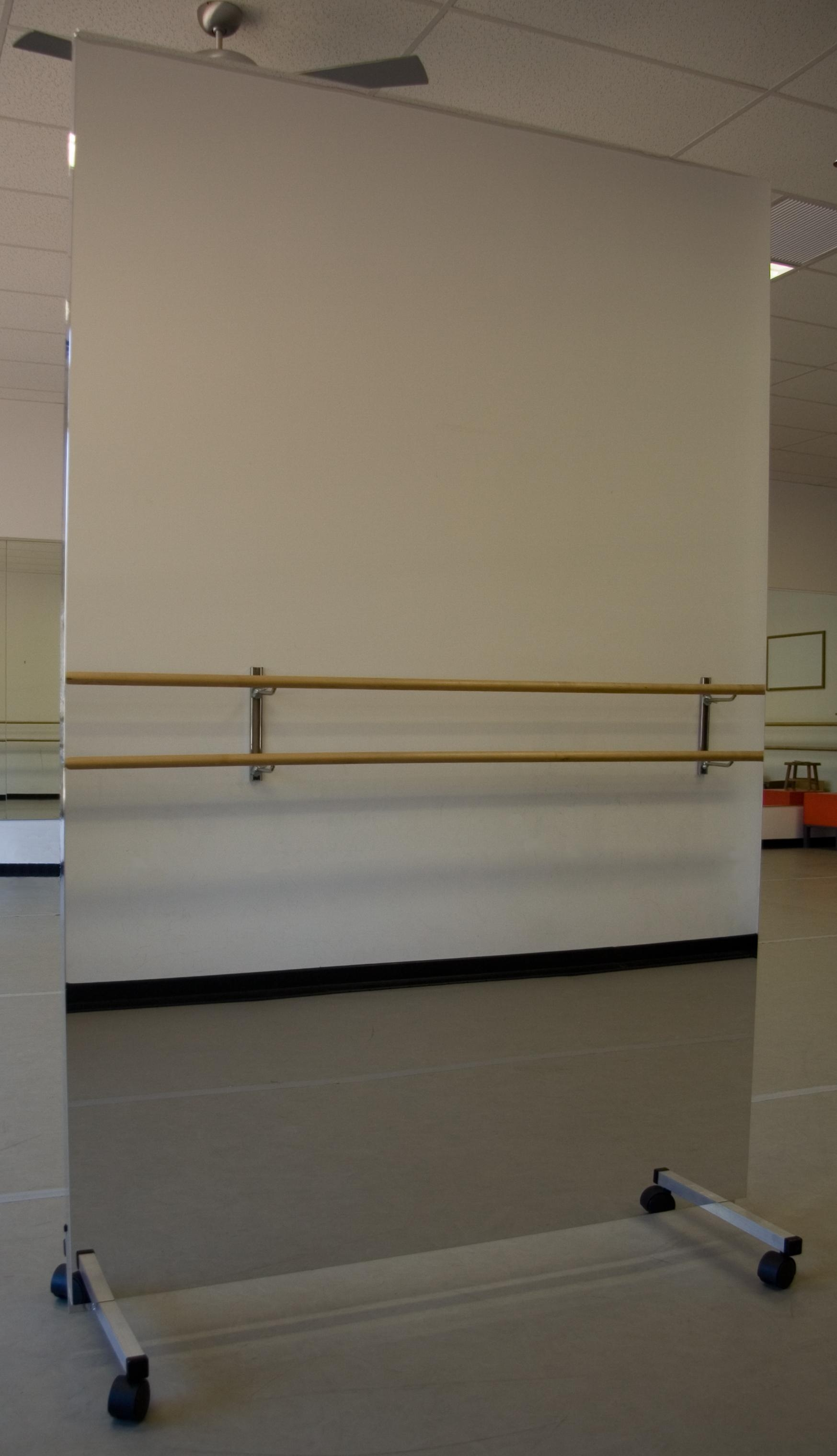 Portable Dance Mirrors – Rolling Mirror Stand – En Pointe Enterprises Pertaining To Movable Mirrors (View 15 of 20)