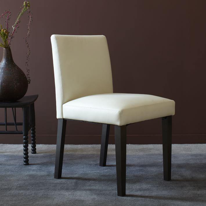 Porter Leather Chair | West Elm With Regard To Most Current Ivory Leather Dining Chairs (View 12 of 20)
