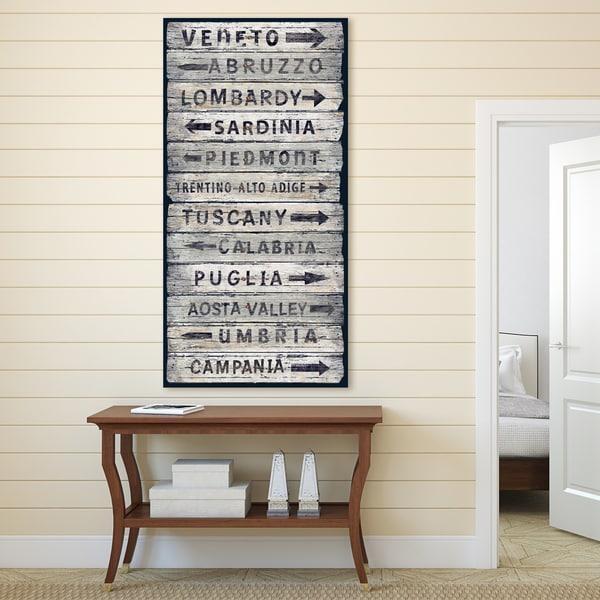 Portfolio Canvas Decor 'italian Wine Regions Ii' Vintage Sign Regarding Italian Wine Wall Art (Image 15 of 20)