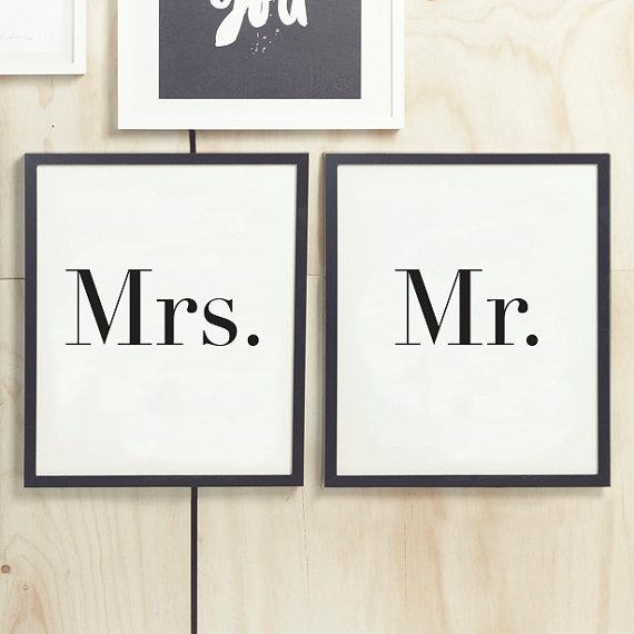 Printable Art Mr And Mrs Wall Art Wall Prints Intended For Mr And Mrs Wall Art (Image 16 of 20)