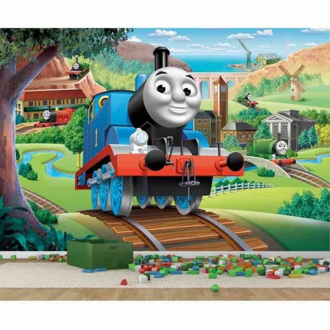 Pro Art Murals – Thomas & Friends Full Wall Mural |Thomas The Tank Intended For Thomas The Tank Wall Art (Image 6 of 20)