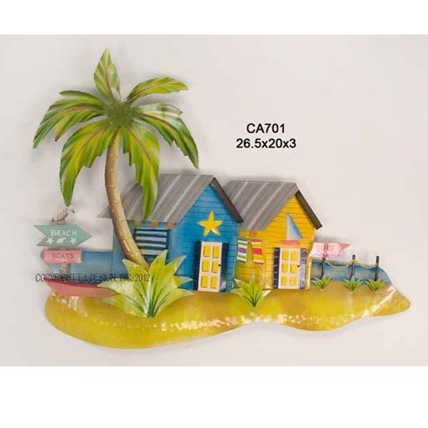 Product Review: Caribbean Cottage, Yellow Metal Wall Art Regarding Caribbean Metal Wall Art (View 17 of 20)