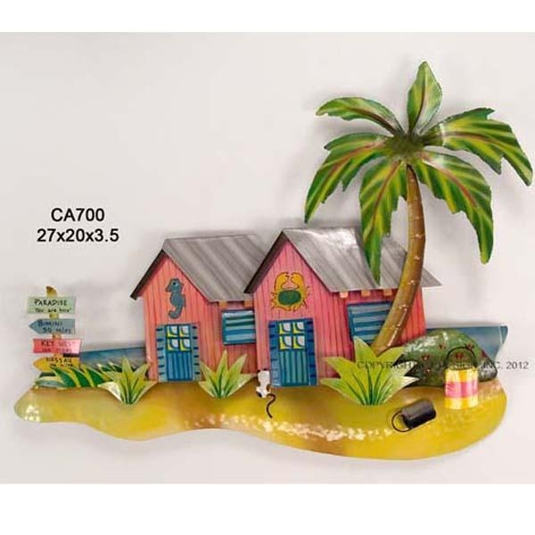 Product Review: Tropical Beach Bungalows Metal Wall Art Inside Caribbean Metal Wall Art (View 6 of 20)