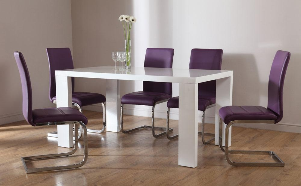 Purple Dining Room Furniture | Dining Chairs Design Ideas & Dining Pertaining To Most Current Dining Tables And Purple Chairs (View 10 of 20)