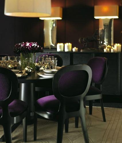 Purple Velvet Dining Chairs – Contemporary – Dining Room Intended For Most Popular Dining Tables And Purple Chairs (Image 15 of 20)