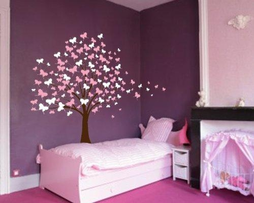 Purple Walls Trees Colorful Butterfly Decor For Bedroom – Decor Crave With Purple Wall Art For Bedroom (Image 18 of 20)