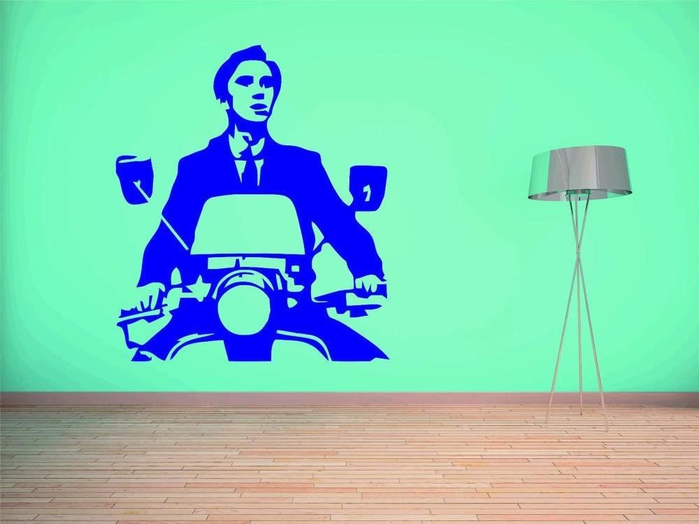 Quadrophenia Vespa Wall Sticker Vinyl Graphic Decal Large Mod Intended For Quadrophenia Wall Art (Image 14 of 20)