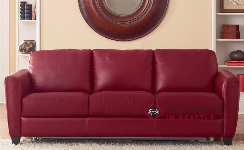 Quick Ship Liro (B592) Queen Leather Sofanatuzzi | Fast Throughout Denver Sleeper Sofas (Photo 17 of 20)