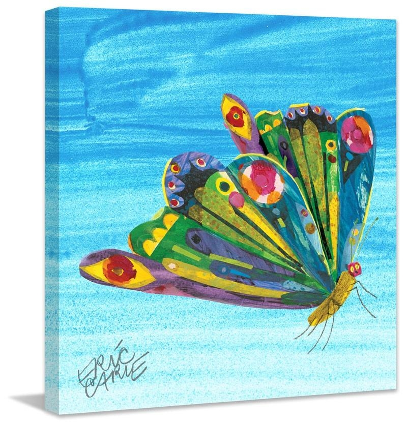 Rainbow Butterfly Canvas Wall Art – Rosenberryrooms Throughout Rainbow Butterfly Wall Art (Image 12 of 20)