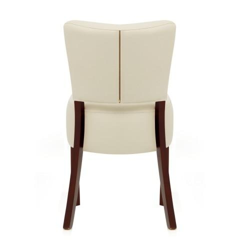 Ramsay Walnut Dining Chair Cream Leather – Atlantic Shopping With Cream Leather Dining Chairs (Image 18 of 20)