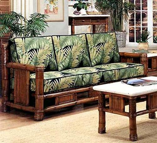 Rattan And Wicker Sofas And Sleeper Sofas | Island And Florida Within Bamboo Sofas (Image 17 of 20)