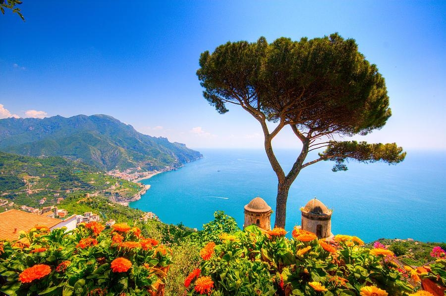 Ravello From The Amalfi Coast Photographfrancesco Riccardo In Italian Coast Wall Art (View 3 of 20)