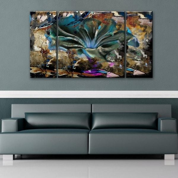 Ready2Hangart 'painted Petals Lviii' 3 Piece Canvas Wall Art Set With Multi Piece Canvas Wall Art (View 19 of 20)