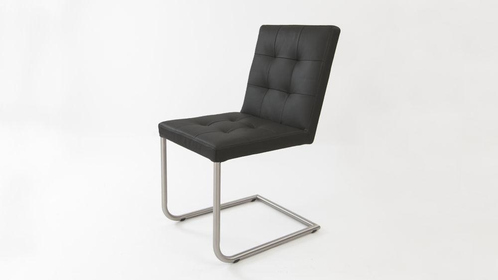 Real Leather Designer Dining Chair | Grey, White And Black Uk With Real Leather Dining Chairs (View 2 of 20)