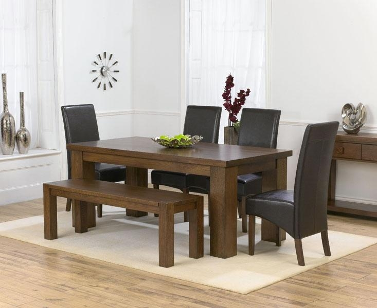 Recent 180Cm Dining Table And 4 Marcello Brown Dining Chairs And With Most Up To Date 180Cm Dining Tables (Image 15 of 20)