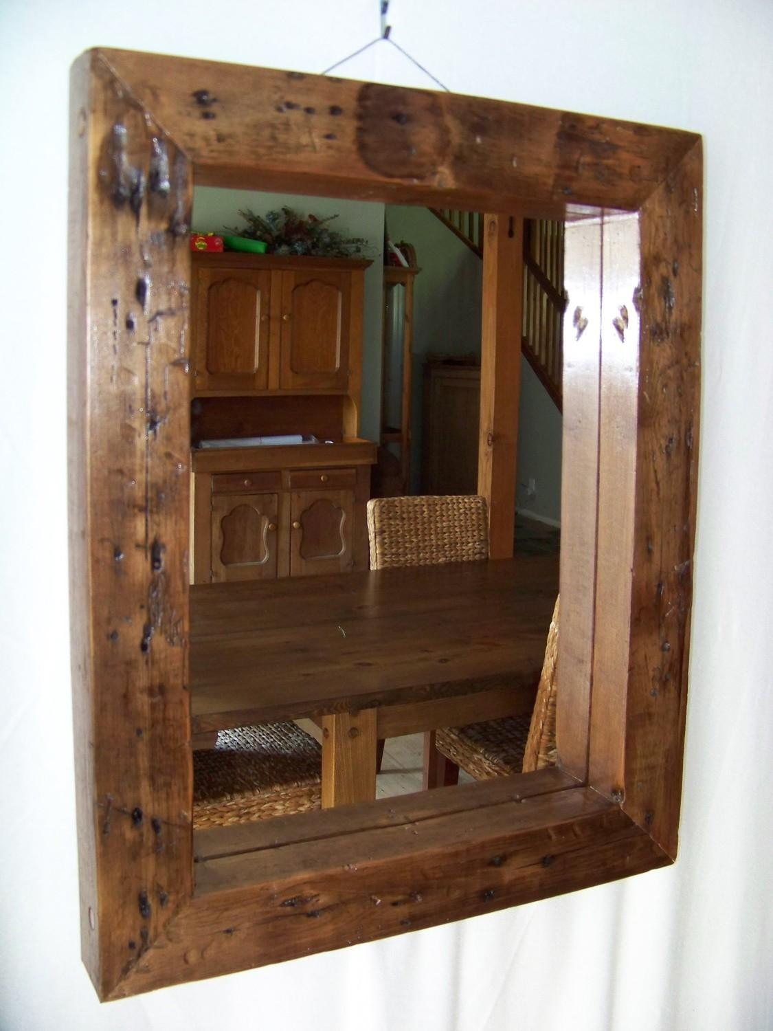 Reclaimed Wood Mirror Picture — Interior Exterior Homie : Making For Vintage Wood Mirrors (Photo 19 of 20)