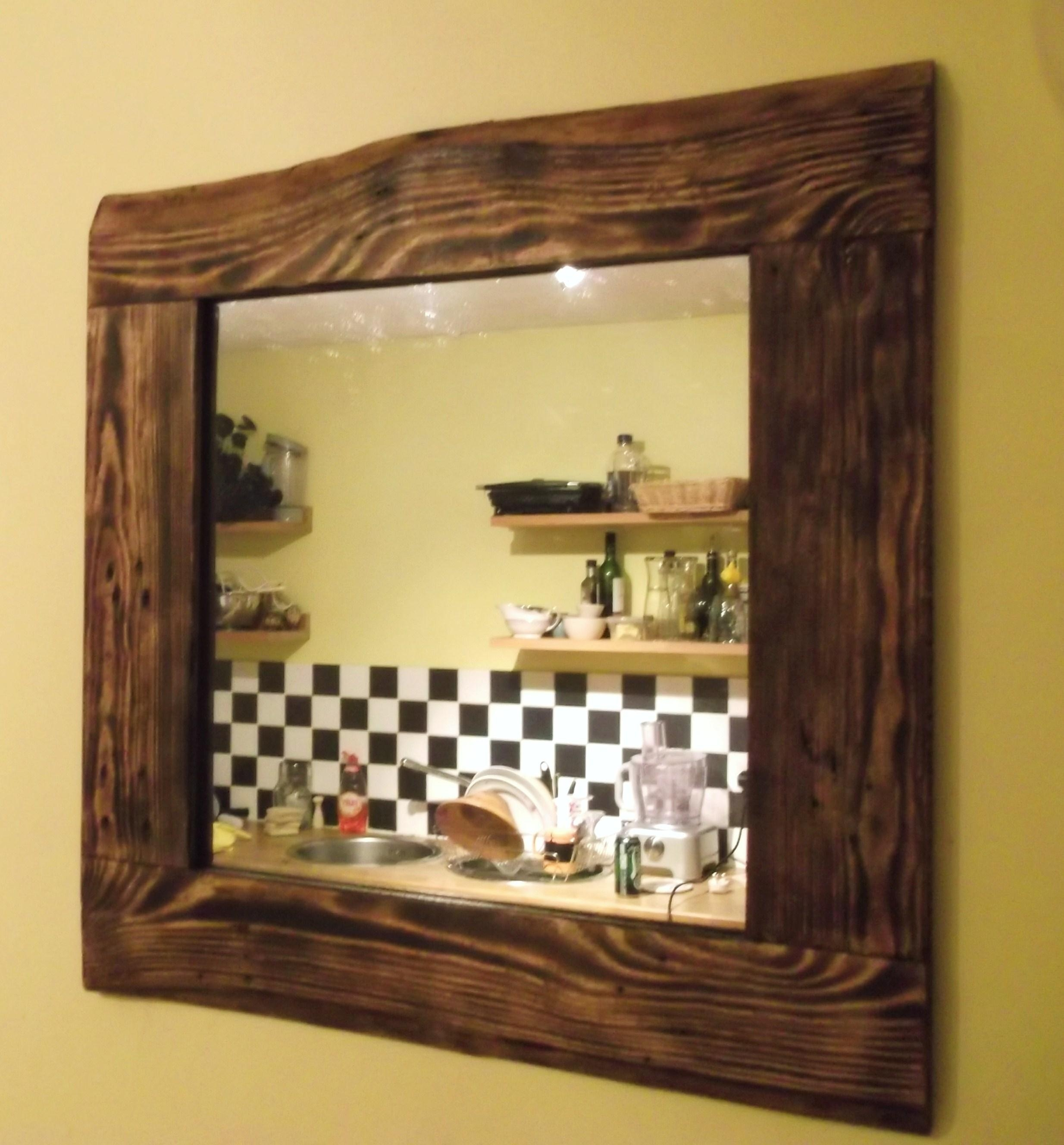 Reclaimed Wood Mirrors | Dave's Beach Hut Regarding Natural Wood Framed Mirrors (Image 13 of 20)