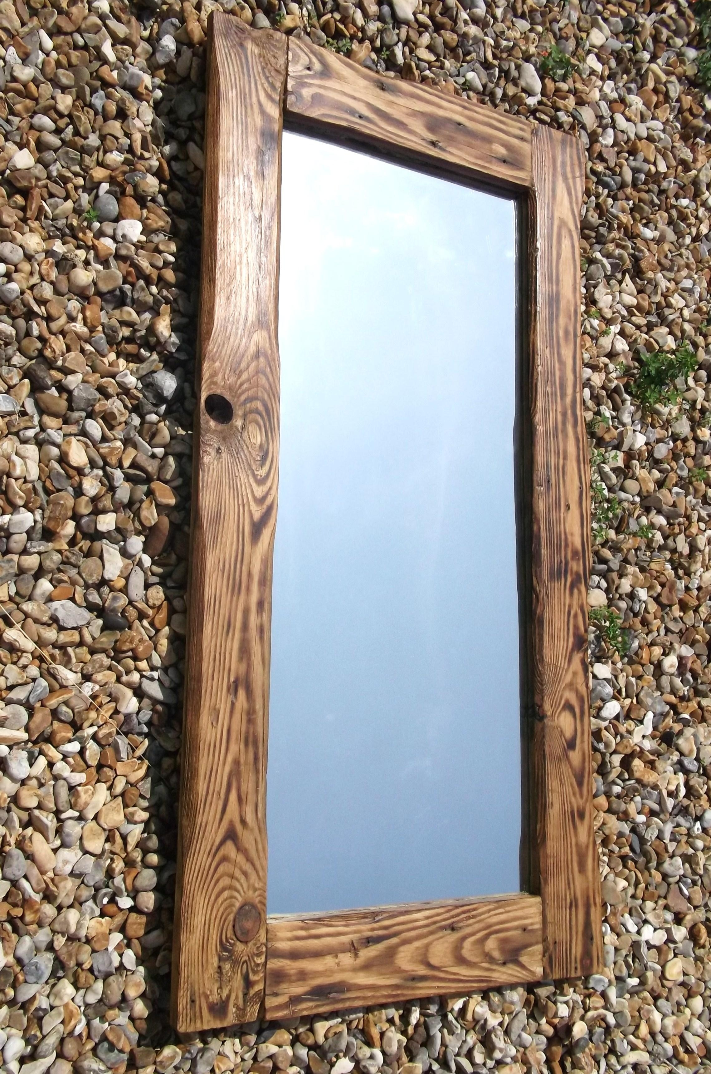 Reclaimed Wood Mirrors | Dave's Beach Hut Regarding Timber Mirrors (View 2 of 20)