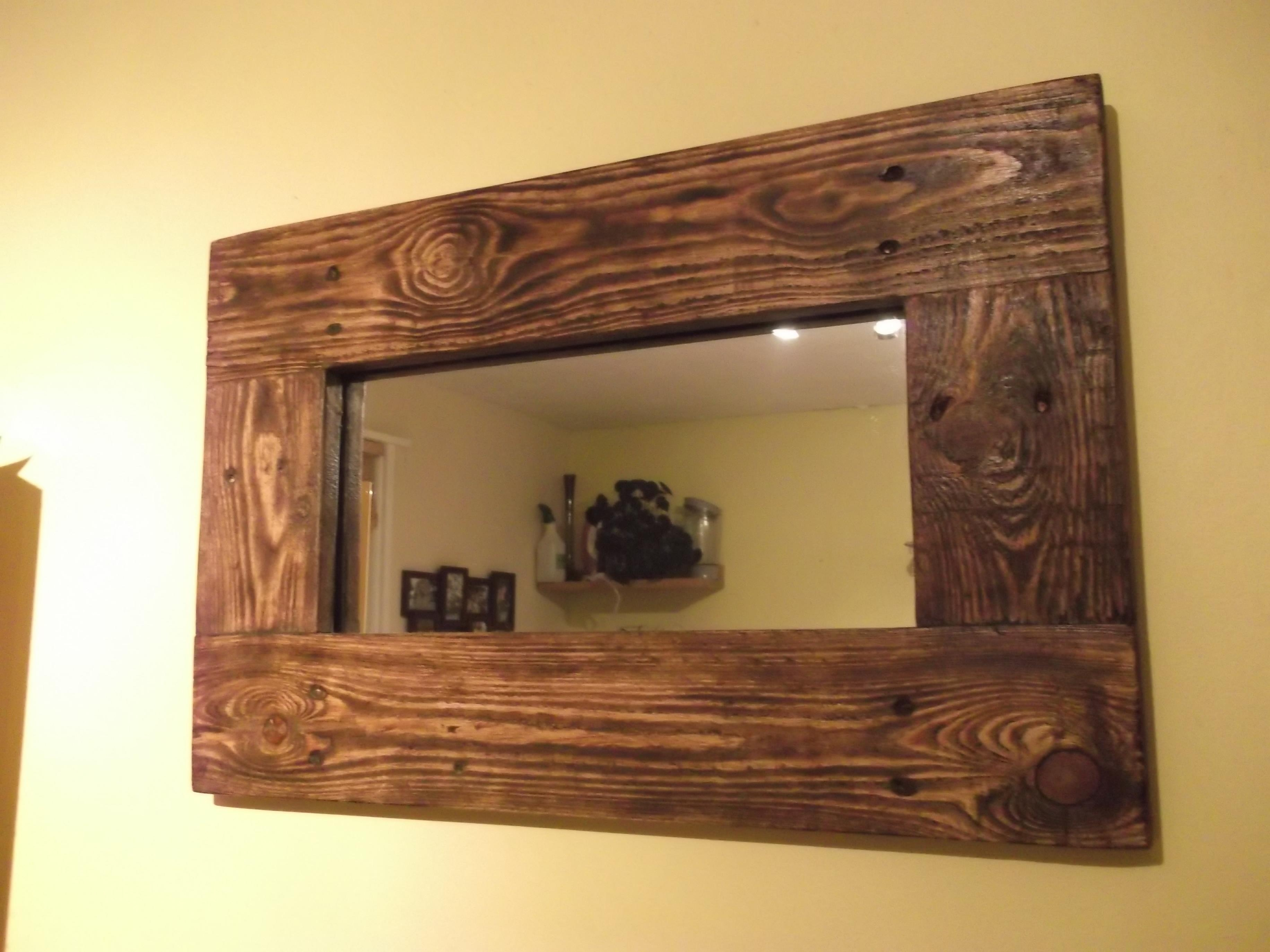 Reclaimed Wood Mirrors | Dave's Beach Hut Throughout Timber Mirrors (View 4 of 20)