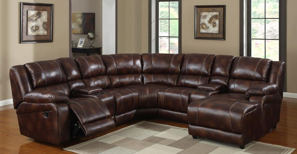 Reclining Sectionals In Living Room Contemporary With Sofa Throughout Traditional Leather Sectional Sofas (Image 13 of 20)