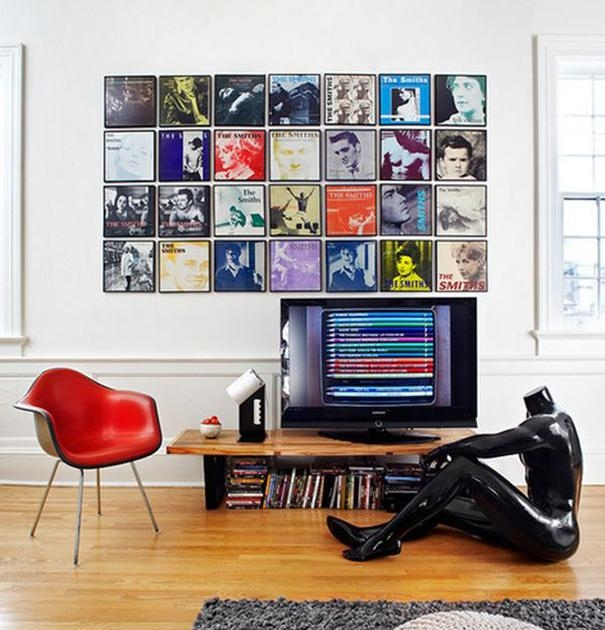 Record Covers As Wall Art – Home Tweaks Pertaining To Album Cover Wall Art (Image 16 of 20)