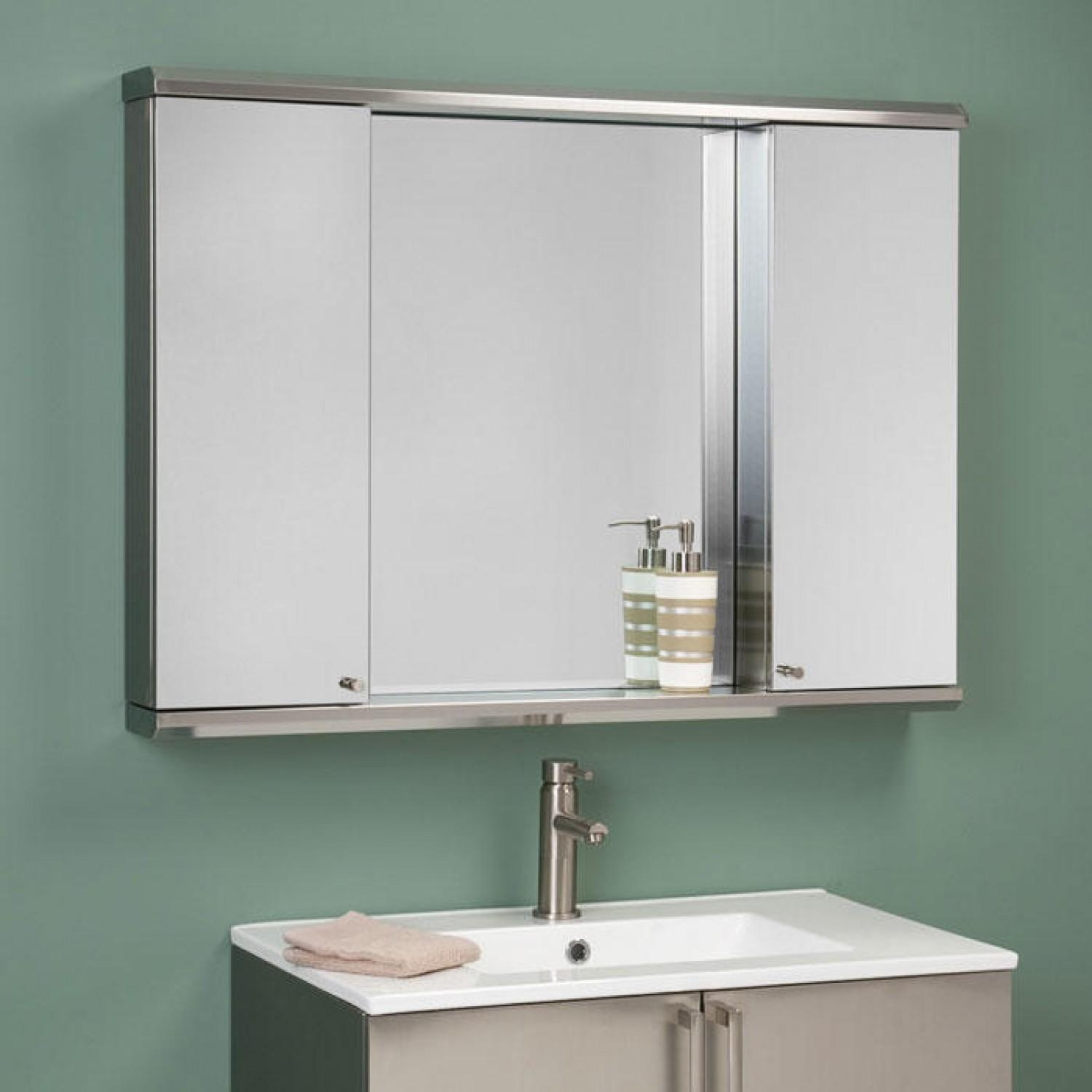 Rectangular Bathroom Mirror In The Middle Twin Stainless Steel With Bathroom Medicine Cabinets With Mirrors (Image 18 of 20)