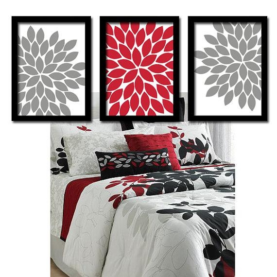 Red Gray Wall Art Bedroom Pictures Canvas Or Prints Bathroom In Red Bathroom Wall Art (Image 15 of 20)