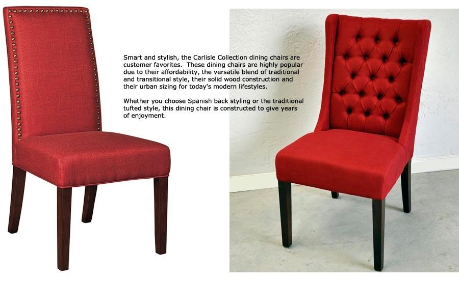 Red Tufted Dining Chair – Insurserviceonline For Most Recent Red Dining Chairs (View 16 of 20)