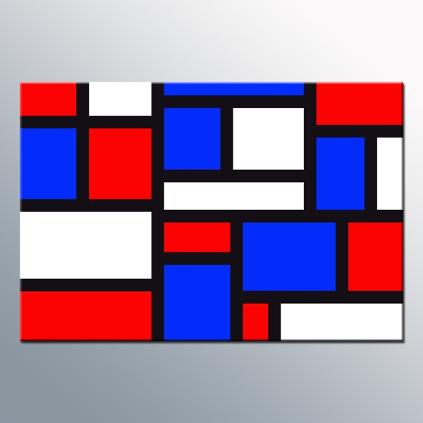 Red White N Blue – Abstract Canvas Wall Art Print 20X30 Inch 52X77 Throughout Red White And Blue Wall Art (Image 16 of 20)