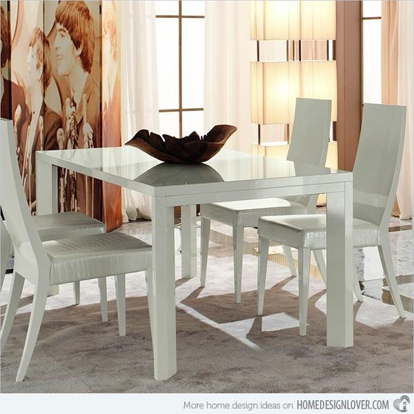 Refreshingly Neat 15 White Dining Sets | Home Design Lover For Recent White Dining Tables Sets (Image 12 of 20)