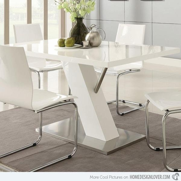Refreshingly Neat 15 White Dining Sets | Home Design Lover Throughout White Dining Sets (Image 15 of 20)