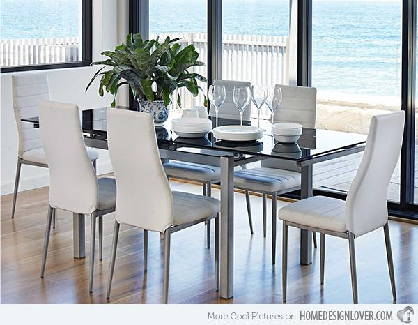 Refreshingly Neat 15 White Dining Sets | Home Design Lover With Recent White Dining Suites (Image 19 of 20)