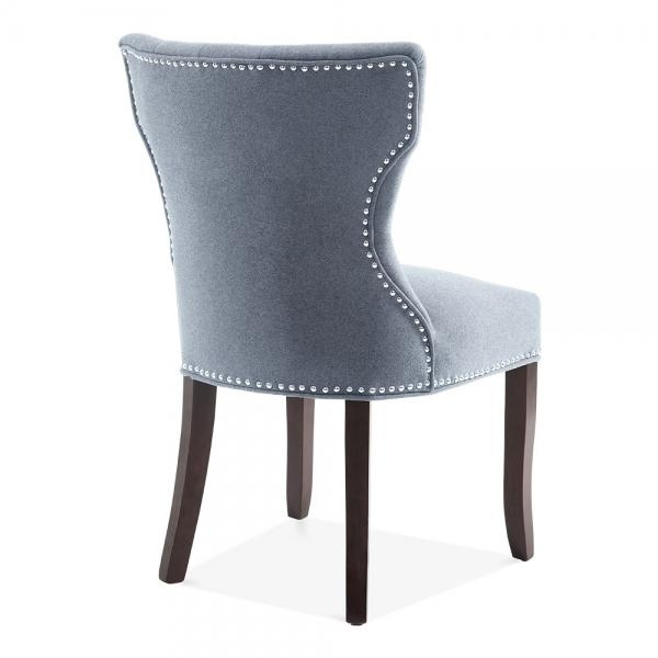 Regent Button High Back Chair Blue | Kitchen & Dining Chairs Pertaining To 2018 Button Back Dining Chairs (Image 18 of 20)