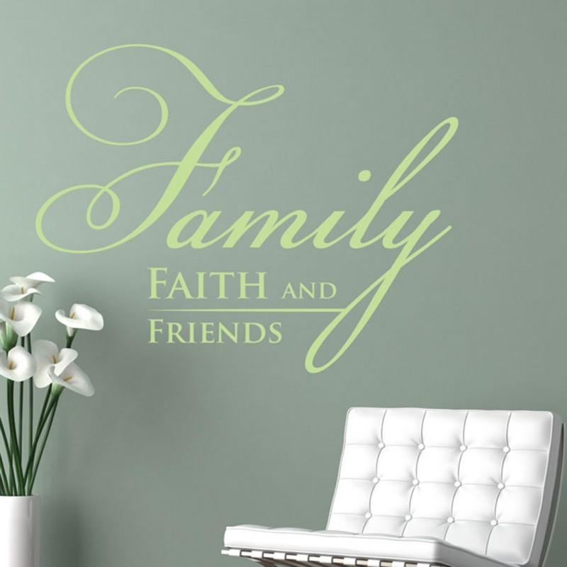 Religious Wall Decor, Wall Art, Wall Decals | Faith, Family, And Inside Faith Family Friends Wall Art (View 3 of 20)