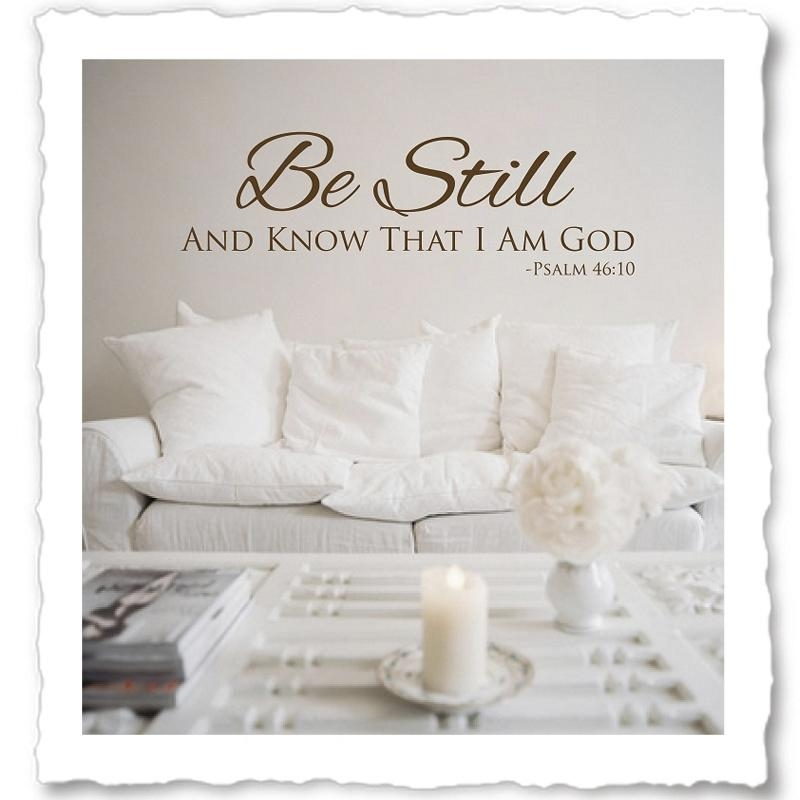 Religious Wall Quotes, Christian Vinyl Wall Quotes, Wall Decals For Christian Word Art For Walls (Image 13 of 20)