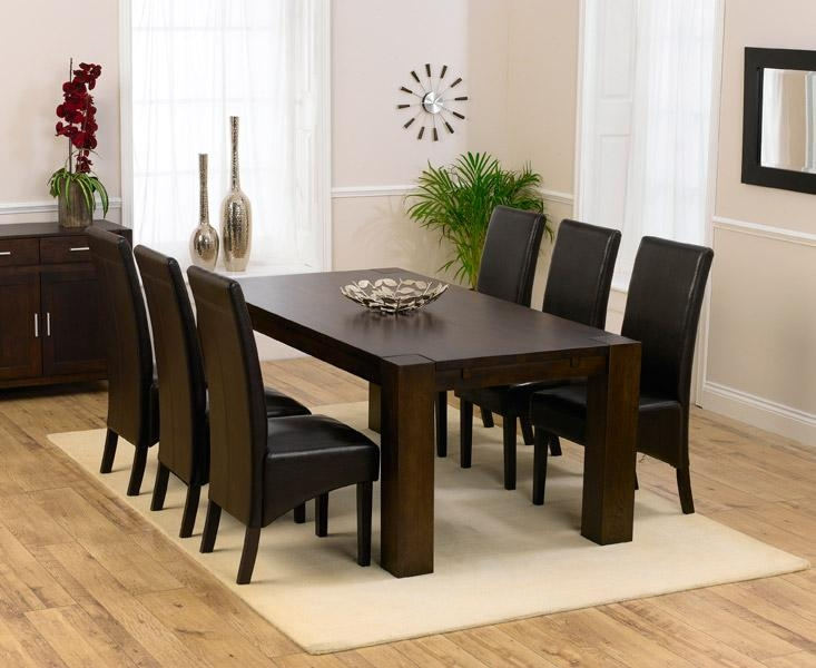 Remarkable Dark Wood Dining Tables And Chairs Dining Room Sets Pertaining To 2018 Dark Brown Wood Dining Tables (Image 17 of 20)