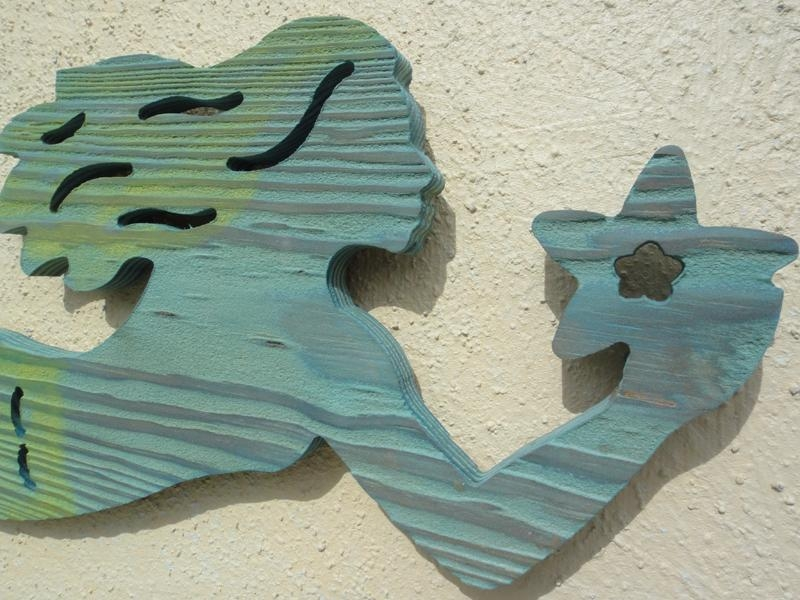 Remarkable Wooden Mermaid Wall Art 55 In Modern Decoration Design Within Wooden Mermaid Wall Art (View 3 of 20)