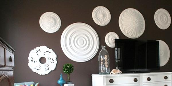 Remodelaholic | Ceiling Medallion Wall Art For Bedroom Makeover Throughout White Medallion Wall Art (Image 12 of 20)