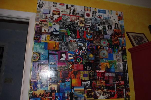 Repurpose Cd Album Cover Art In Giant Wall Collage (Image 18 of 20)
