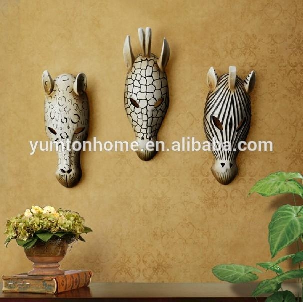 Resin Animal Head 3D Wall Art Decoration, View Animal Head Wall Regarding Resin Animal Heads Wall Art (View 17 of 20)
