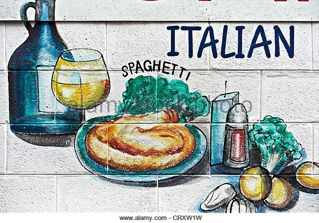 Restaurant Wall Art Stock Photos & Restaurant Wall Art Stock Regarding Italian Wall Art (Image 8 of 20)