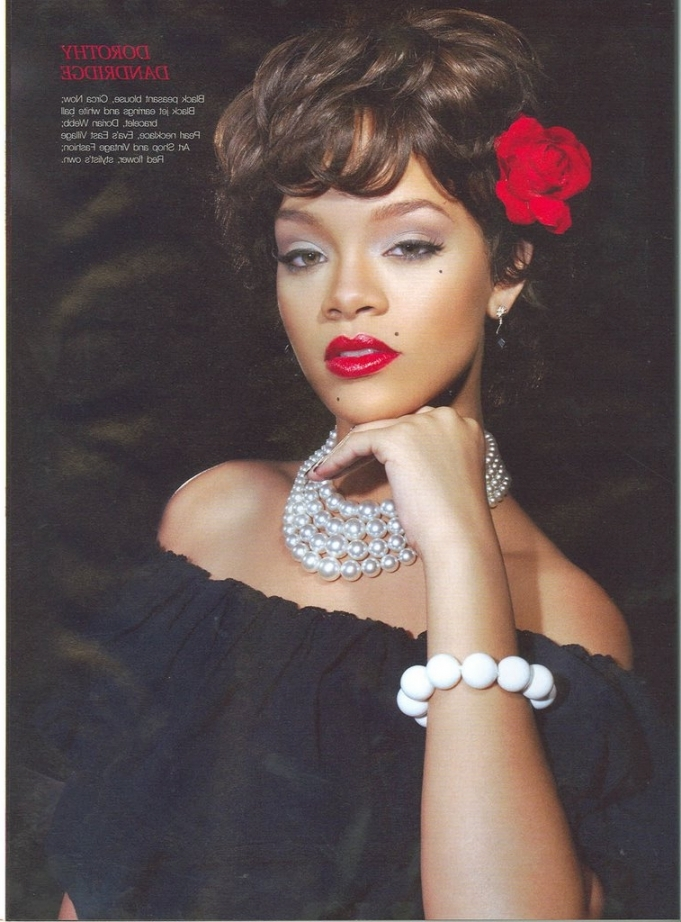 Rihanna As Dorothy Dandridge | Makeup Artistry Course Research In Dorothy Dandridge Wall Art (Image 19 of 20)