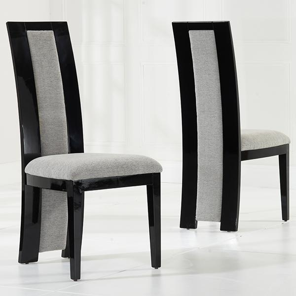 Riviera Black High Gloss Dining Chairs Pair – Robson Furniture Inside Most Popular Black High Gloss Dining Chairs (View 19 of 20)